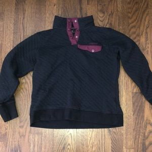 Women's spyder quilted 1/4 snap jacket